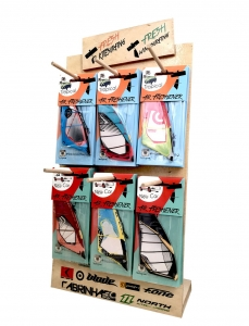 Mix of every Sail in collection 70pcs + wooden stand