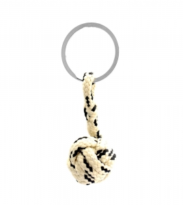 Monkey Ball Keychain - Cream/Black