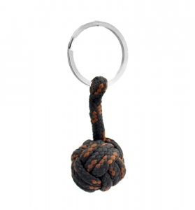 Monkey Ball Keychain - Black/Brown