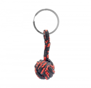 Monkey Ball Keychain - Black/Red