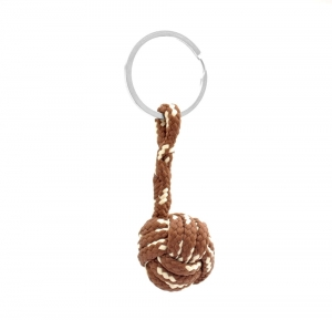 Monkey Ball Keychain - Brown/Coffee
