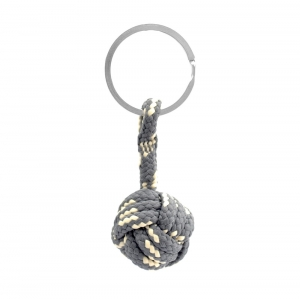 Monkey Ball Keychain - Gray/Cream