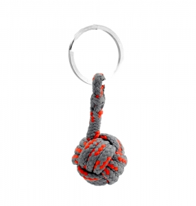Monkey Ball Keychain - Gray/Red