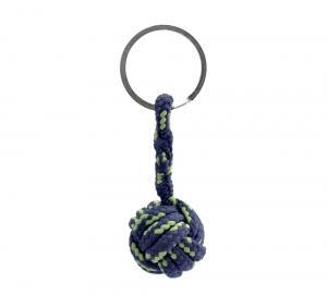 Monkey Ball Keychain - Navy/Green