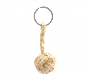 Monkey Ball Keychain - Natural Line