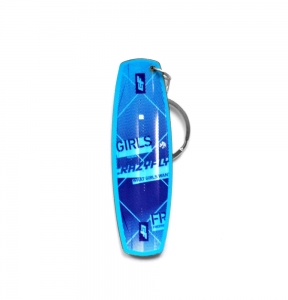 CrazyFly Girls Blue Keychain