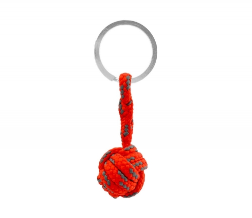 Monkey Ball Keychain - Red/Gray